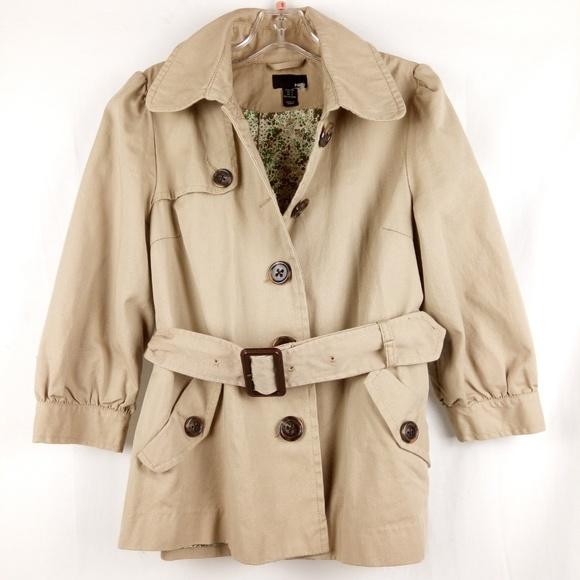 97de3e7d74c470 H&M Jackets & Coats   Hm Divided Short Trench Coat Women Size 8 ...